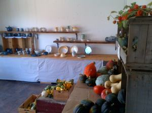 pottery and squash